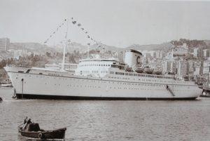 Le Bianca C à Gênes en 1959